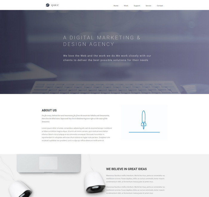 Escape-Velocity — Beautiful HTML5 Business Template — Fastcode.Space