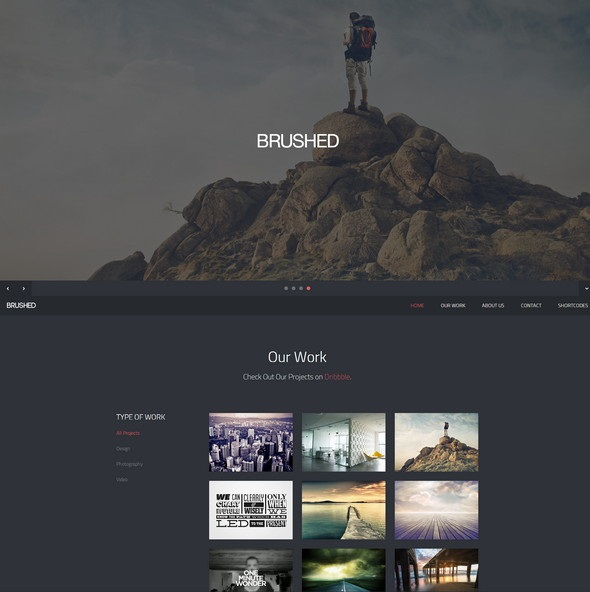 brushed responsive one page template fastcode space
