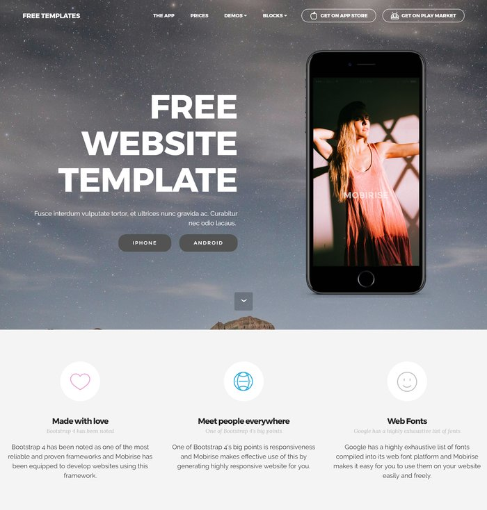 mobirise website template